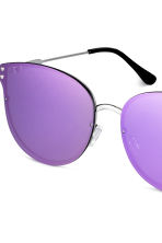 Mirrored-lens sunglasses - Purple - Ladies | H&M CN 3